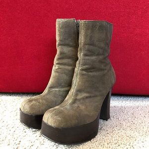 Vintage Chinese Laundry Distressed Suede Boot